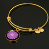 Crown Chakra (Sahasrara) - 18k Gold Finished Bangle Bracelet