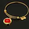 Root Chakra (Muladhara) v2 - 18k Gold Finished Bangle Bracelet