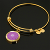 Crown Chakra (Sahasrara) v2 - 18k Gold Finished Bangle Bracelet
