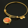Sacral Chakra (Swadhisthana) v2 - 18k Gold Finished Bangle Bracelet