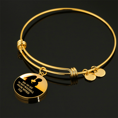 Amazing Mother - 18k Gold Finished Bangle Bracelet