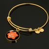 Sacral Chakra (Swadhisthana) - 18k Gold Finished Bangle Bracelet