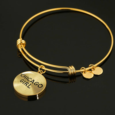 Chicago Girl - 18k Gold Finished Bangle Bracelet