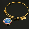 A Mother Is Like A Flower - 18k Gold Finished Bangle Bracelet