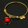 Root Chakra (Muladhara) - 18k Gold Finished Bangle Bracelet