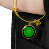 Heart Chakra (Anahata) - 18k Gold Finished Bangle Bracelet