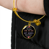 Always Heart To Heart - 18k Gold Finished Bangle Bracelet