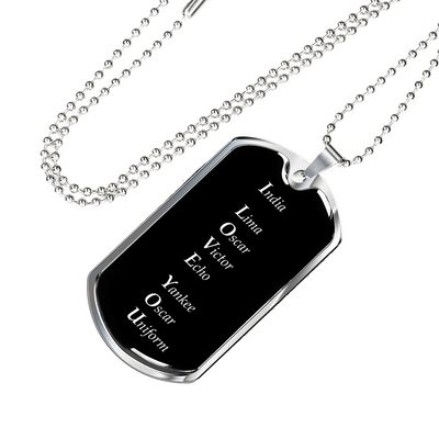 I Love You - Luxury Dog Tag Necklace