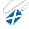Scottish Flag - Luxury Dog Tag Necklace