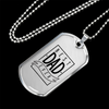 Best Dad Ever - Luxury Dog Tag Necklace