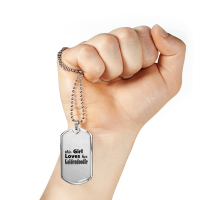 Goldendoodle - Luxury Dog Tag Necklace