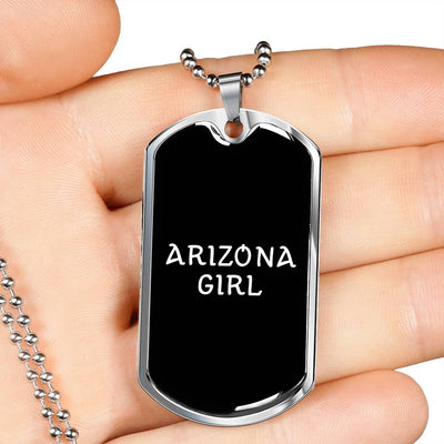 Arizona Girl v2 - Luxury Dog Tag Necklace