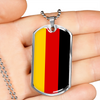 German Flag - Luxury Dog Tag Necklace