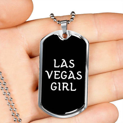 Las Vegas Girl v2 - Luxury Dog Tag Necklace