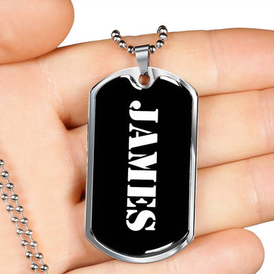 James v1 - Luxury Dog Tag Necklace
