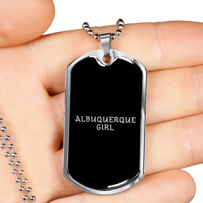Albuquerque Girl v3 - Luxury Dog Tag Necklace