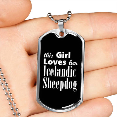 Icelandic Sheepdog v2 - Luxury Dog Tag Necklace