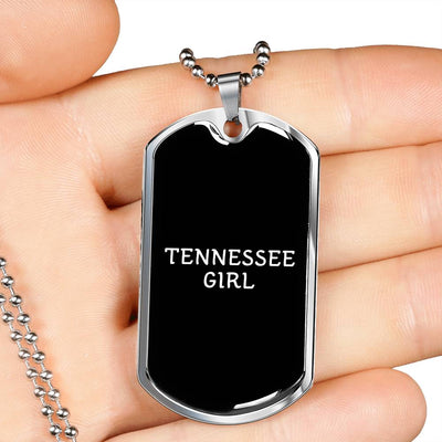 Tennessee Girl v2 - Luxury Dog Tag Necklace