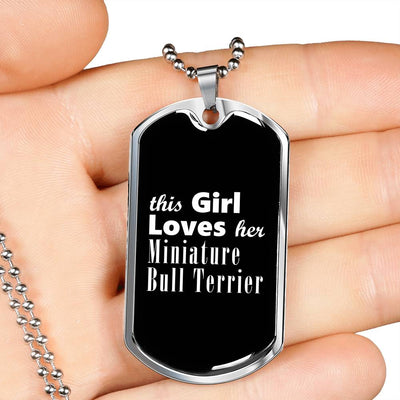 Miniature Bull Terrier v2 - Luxury Dog Tag Necklace
