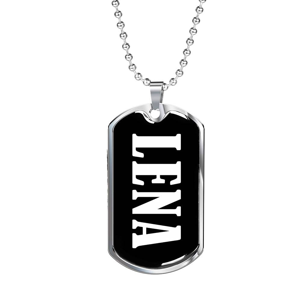 Lena v02 - Luxury Dog Tag Necklace