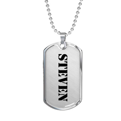Steven - Luxury Dog Tag Necklace
