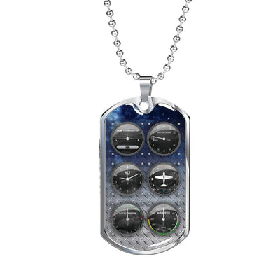 Flight Instruments - Luxury Dog Tag Necklace