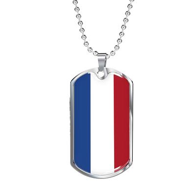 Dutch Flag - Luxury Dog Tag Necklace