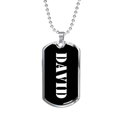 David v2 - Luxury Dog Tag Necklace