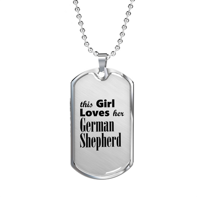 German Shepherd - Luxury Dog Tag Necklace