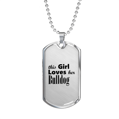 Bulldog - Luxury Dog Tag Necklace