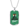 Best Buckin' Dad Ever v2 - Luxury Dog Tag Necklace