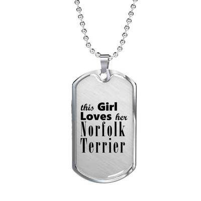 Norfolk Terrier - Luxury Dog Tag Necklace