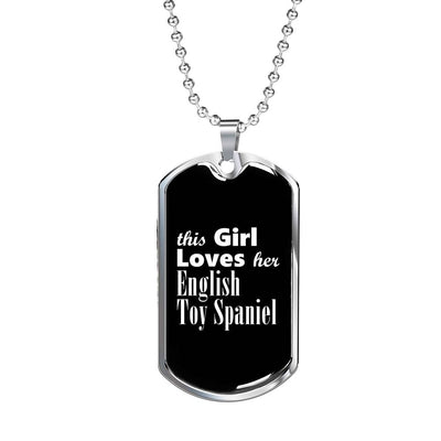 English Toy Spaniel v2 - Luxury Dog Tag Necklace