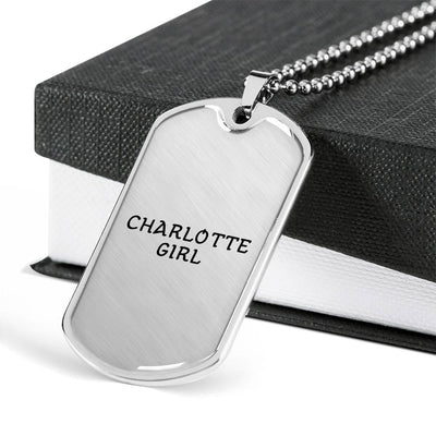 Charlotte Girl - Luxury Dog Tag Necklace