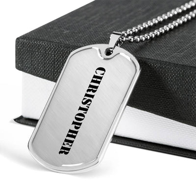 Christopher - Luxury Dog Tag Necklace