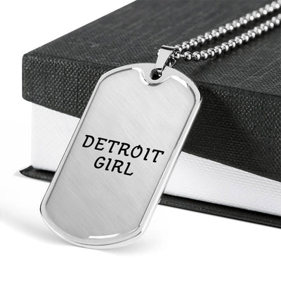 Detroit Girl - Luxury Dog Tag Necklace