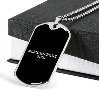 Albuquerque Girl v2 - Luxury Dog Tag Necklace