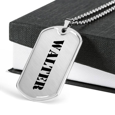 Walter - Luxury Dog Tag Necklace