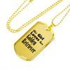 Golden Retriever - 18k Gold Finished Luxury Dog Tag Necklace