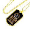 Beer Superpower - 18k Gold Finished Luxury Dog Tag Necklace