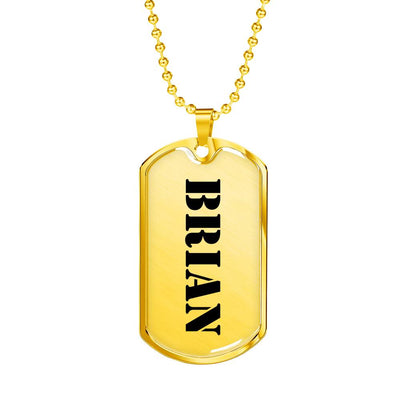 Brian - 18k Gold Finished Luxury Dog Tag Necklace