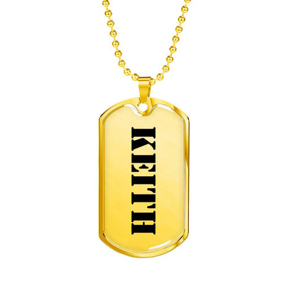 Keith - 18k Gold Finished Luxury Dog Tag Necklace