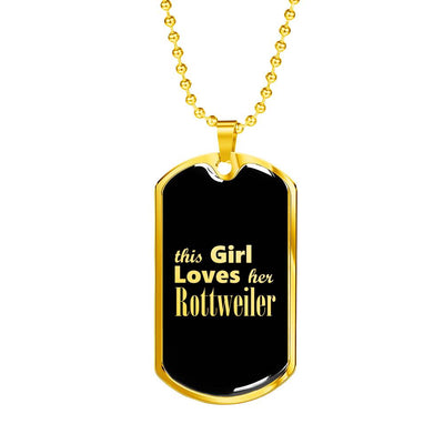 Rottweiler v2 - 18k Gold Finished Luxury Dog Tag Necklace