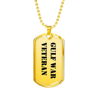 Gulf War Veteran - 18k Gold Finished Luxury Dog Tag Necklace