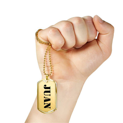 Juan - 18k Gold Finished Luxury Dog Tag Necklace