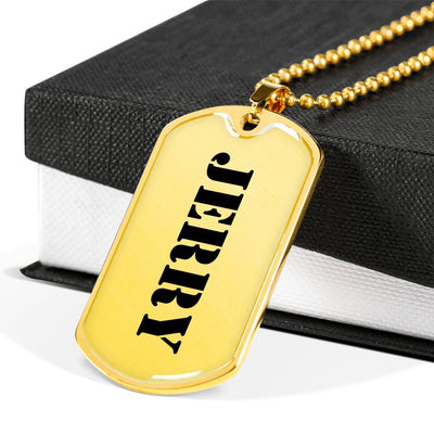 Jerry - 18k Gold Finished Luxury Dog Tag Necklace