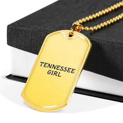 Tennessee Girl - 18k Gold Finished Luxury Dog Tag Necklace