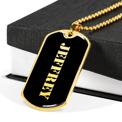 Jeffrey v2 - 18k Gold Finished Luxury Dog Tag Necklace