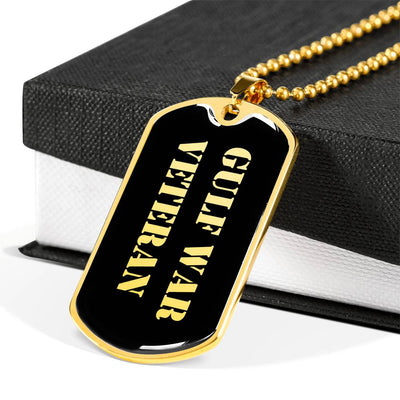 Gulf War Veteran v2 - 18k Gold Finished Luxury Dog Tag Necklace