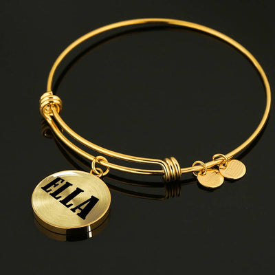 Ella v01 - 18k Gold Finished Bangle Bracelet